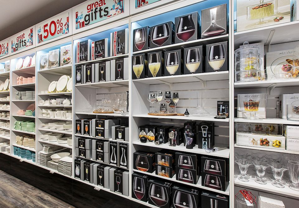 Corporate photography: Robins Kitchens homewares retail store product display and interior fitout